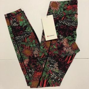 Lululemon Speed Up Tights size 4 floral print NWT